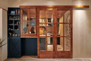 半開放式廚房門