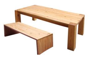 原木厚實餐桌32