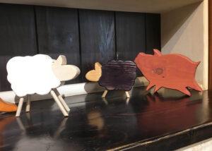 原木小動物擺飾