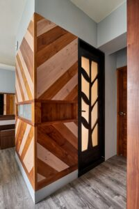原木造型牆