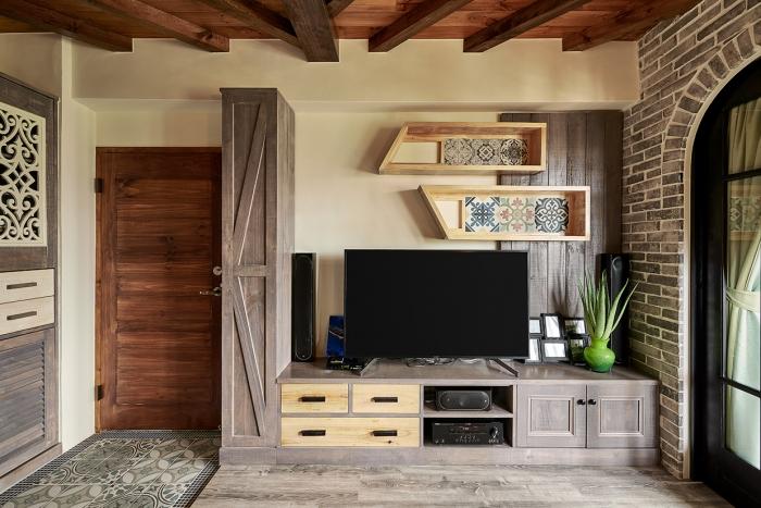 原木造型電視櫃