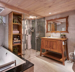 原木風浴室29