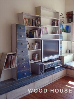 地中海風電視牆005