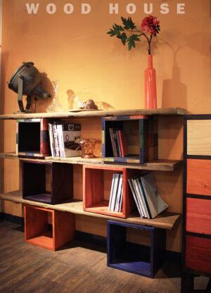 老木方箱書架85