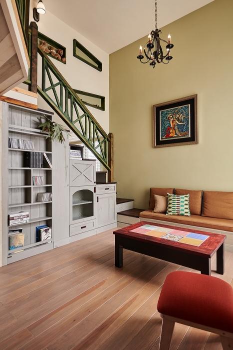 實木收納樓梯