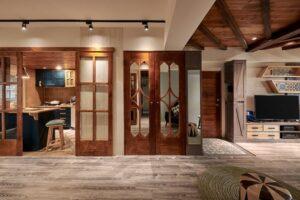 原木造型門片