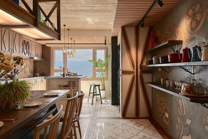 鄉村風開放式廚房