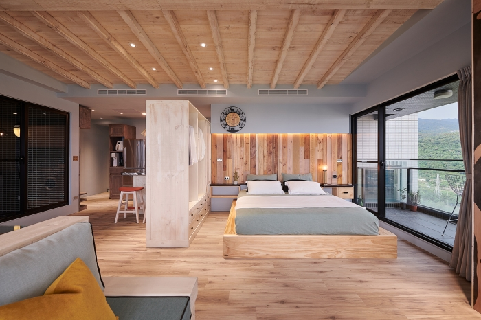 原木工坊造形床頭板
