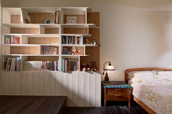 實木隔間書櫃
