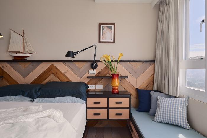 實木床邊櫃