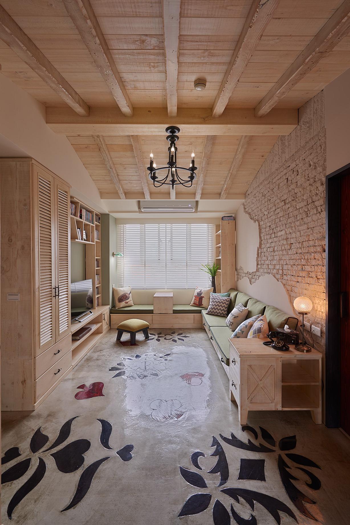 原木天花板
