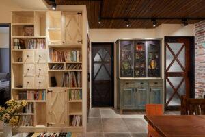 原木展示書櫃