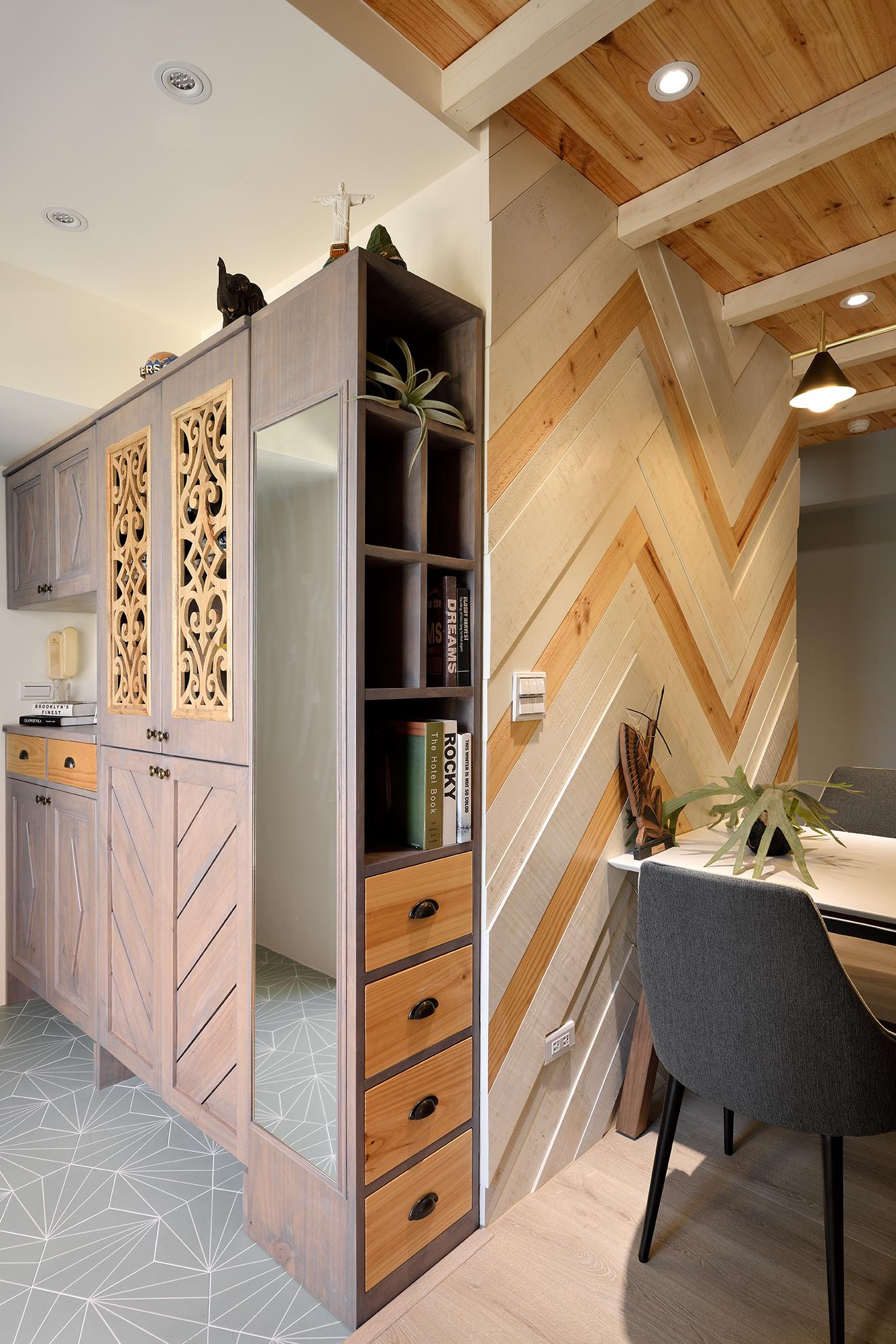 實木玄關收納櫃